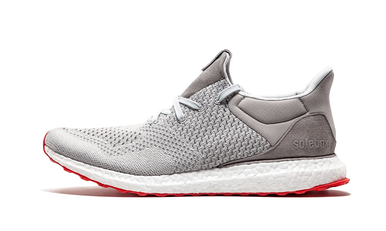 purchase cheap f41a3 d1fe8 adidas Mens Ultra Boost Uncaged Solebox Grey/White-Red Mesh