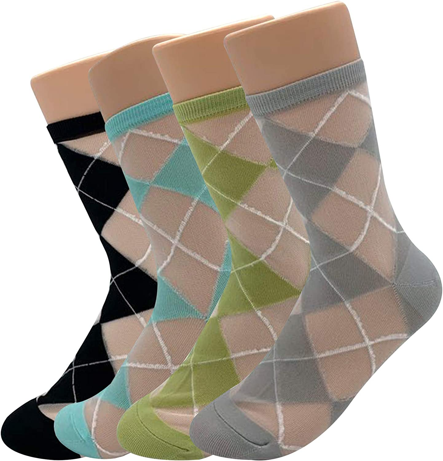 Women's High Ankle Crew Socks – Casual Multi Pack Cotton Lightweight Soft Cute Novelty Colorful Dress Sock Size 7-12