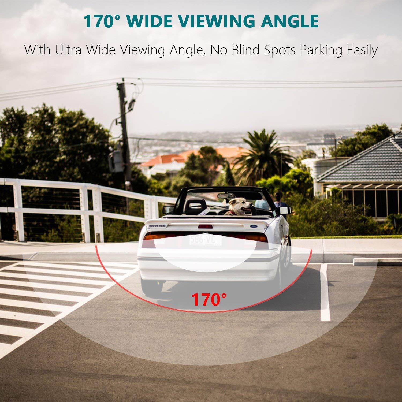 HD 720p Backup Camera Waterproof Reverse Hole Rear-View Rear Reverse Parking Camera for MB Mercedes Benz C//E//S Class W220 W221 W222 Viano Vito W639