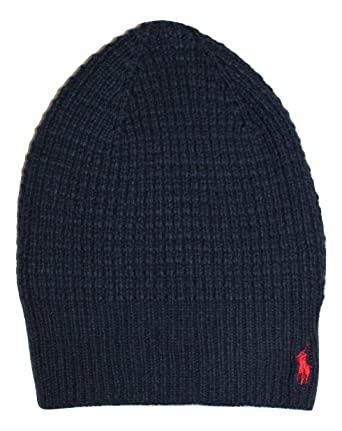 adcdd32ee33 Polo Ralph Lauren Men s Waffle Knit Beanie Skull Cap  Amazon.in  Clothing    Accessories