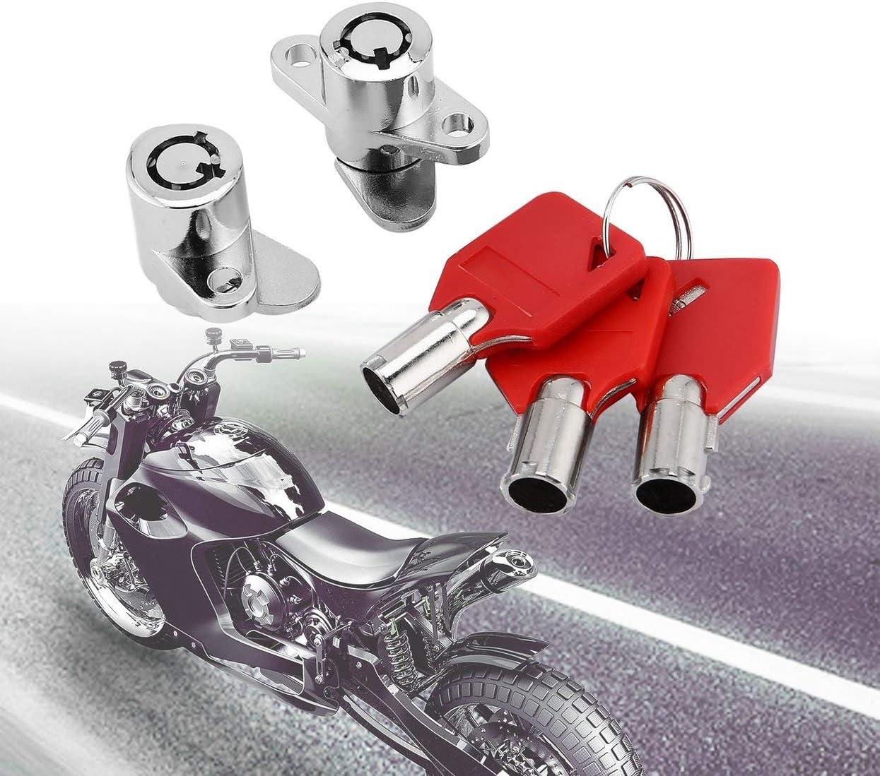Tree On Life Motorräder Red Hard Satteltaschen Schlösser Mit Schlüsselsatz Kompatibel Für Harley Touring Electra Glide Street Road King 93 13 Küche Haushalt