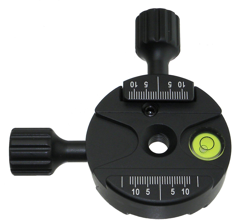 Desmond DBI-60 Bidirectional Double 90° Degree QR Clamp Arca-Swiss Compatible for Tripod Ball Head