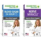 Diabetes Doctor Bundle Pack - 24 Hour Blood Sugar Daily Support & Nerve Miracle - Supports Healthy A1C, Insulin Function, Org