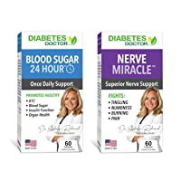 Diabetes Doctor Bundle Pack - 24 Hour Blood Sugar Daily Support & Nerve Miracle - Supports Healthy A1C, Insulin Function, Organ Health, & Nerves