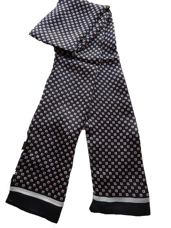 Winter Love 100% Silk Men Scarf Neckerchief Double Layers