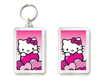 Conjunto de llavero e imán de Hello Kitty con un corazón ...