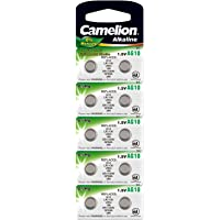 Camelion 12051010 pile a bottone alcaline senza mercurio AG10/LR54/LR1131/389 (1,5 V, 10 Pack)