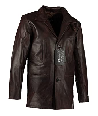 Mens Max Payne Vintage Brown Leather Jacket Coat - Vintage Long ...