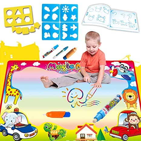Large Water Drawing Mat Painting Writing Magic Pen Aqua Doodle Board Kids Gift Toys & Activities Other Toys & Activities