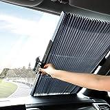 TWING - Parasol retráctil para parabrisas de coche para ventana delantera de coche, bloquea el 99% de los rayos UV y…