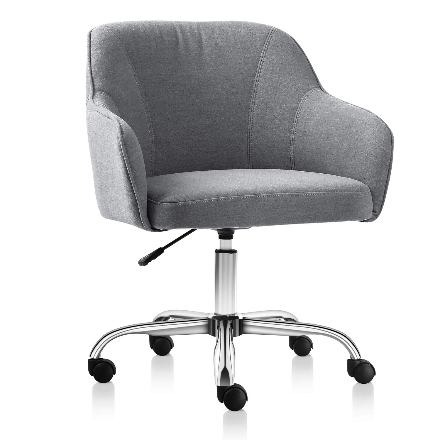 Surprising Vh Furniture Home Office Chair Upholstered Desk Chair With Arms For Conference Room Or Office Gray Download Free Architecture Designs Scobabritishbridgeorg