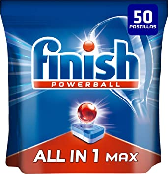 Finish Todo en 1 Max Regular Pastillas para Lavavajillas - 35 + 15 ...