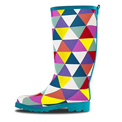 Amazon LONECONE Women's Patterned MidCalf Rain Boots Rain Cool Patterned Rain Boots