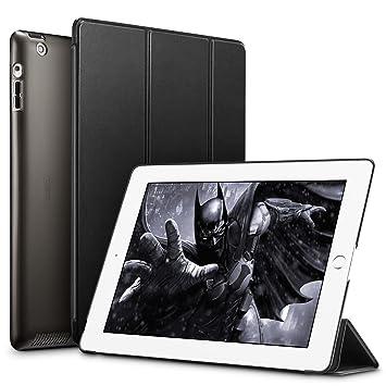ESR Funda iPad 2/3/4 [Auto-Desbloquear] Función de Soporte [Botones Protegidos] Carcasa Ligera Antigolpes de Cuero Sintético y Plástico Duro ...