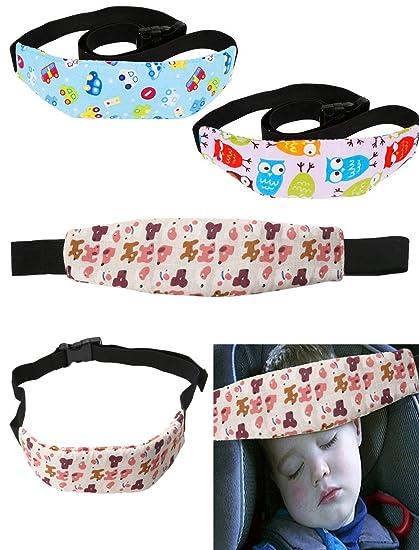 Takestop Juego 2 Piezas banda cintas soporte cabeza niño para capazo Trona Seguridad Correa Ajustable coche