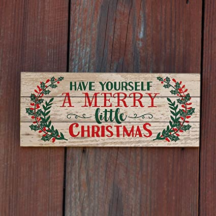 MODE HOME 158quotx8quot Christmas Wall Decor Decorative Wooden Signs With Quotes Sayings For