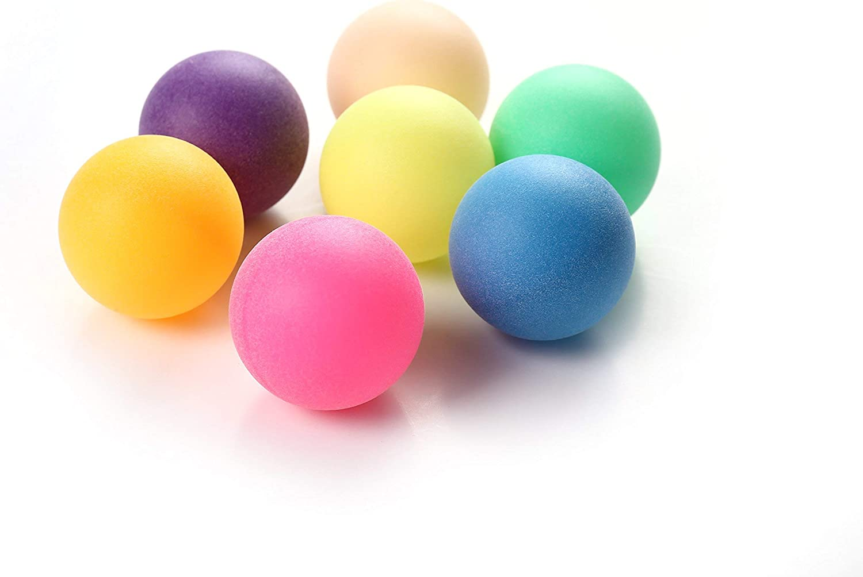 Ping Pong Mesa de Ping Pong Pelotas de 40 mm de Colores Mezclados sin Logotipos (Paquete de 150)