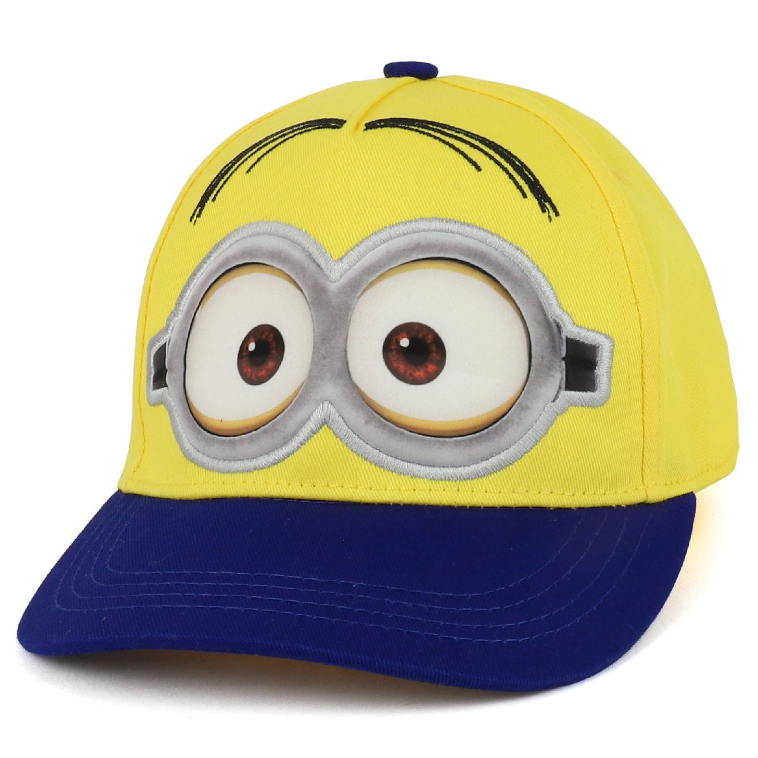 Trendy Apparel Shop Boys Kid's Despicable Me Minions Bob Blue Baseball Cap - Yellow by Trendy Apparel Shop (Image #1)