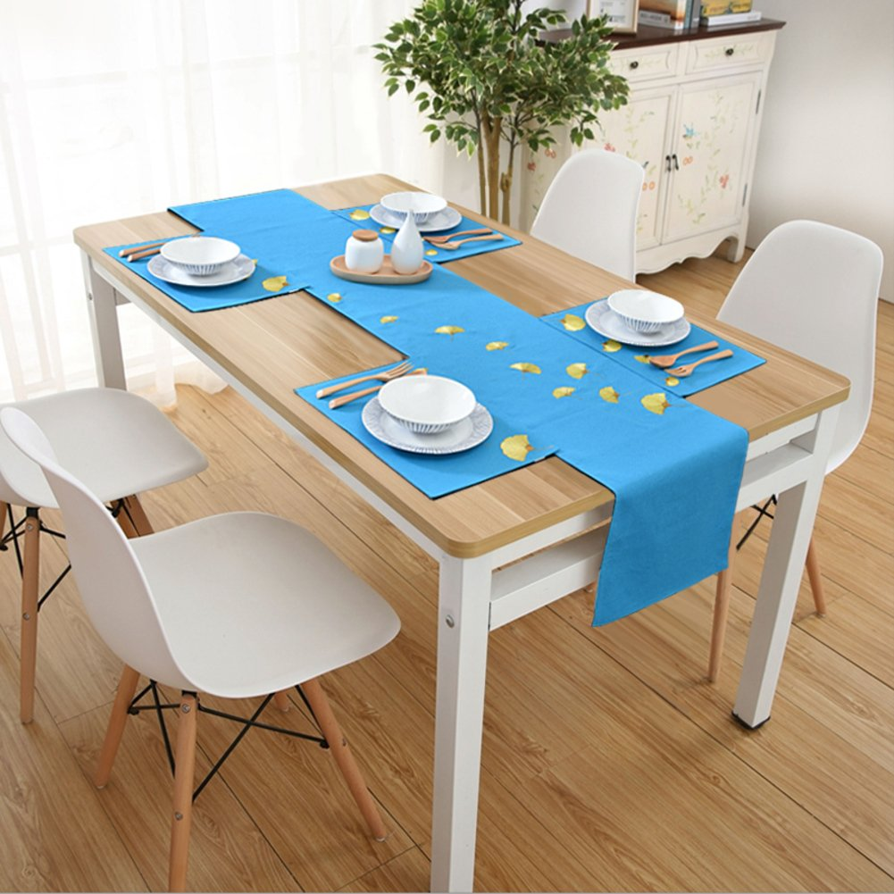 Simple embroidery table flag/tv ark fabric/tea table runner/dining desk mats-B
