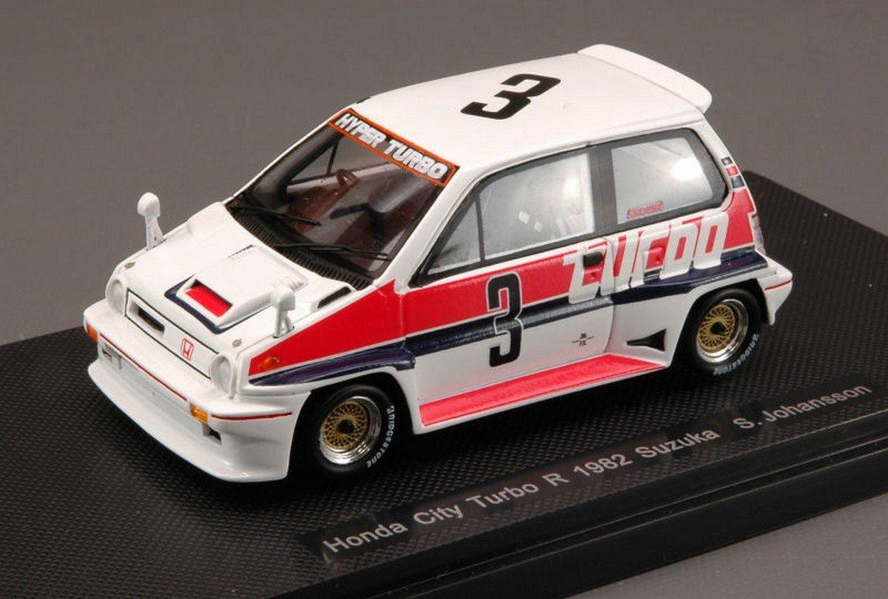 Ebbro EB44471 Honda City Turbo R N.3 Suzuka 1982 S.Johansson 1:43 Die Cast Model