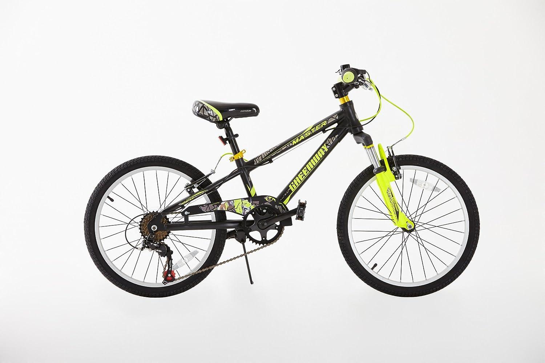 Bicicleta infantil de aleación aluminio con cambios Shimano para niños de 5 a 12 años, rueda de 20 pulgadas Greenway 903 20 BLK