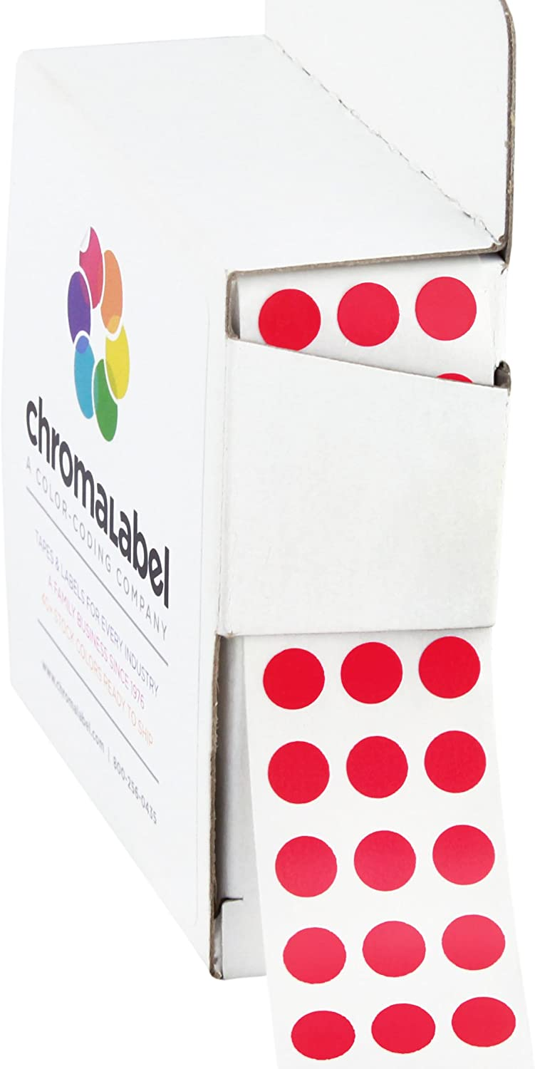 53 Color Choices 1//2 Inch Round 1000 on a Roll Circle Dot Stickers