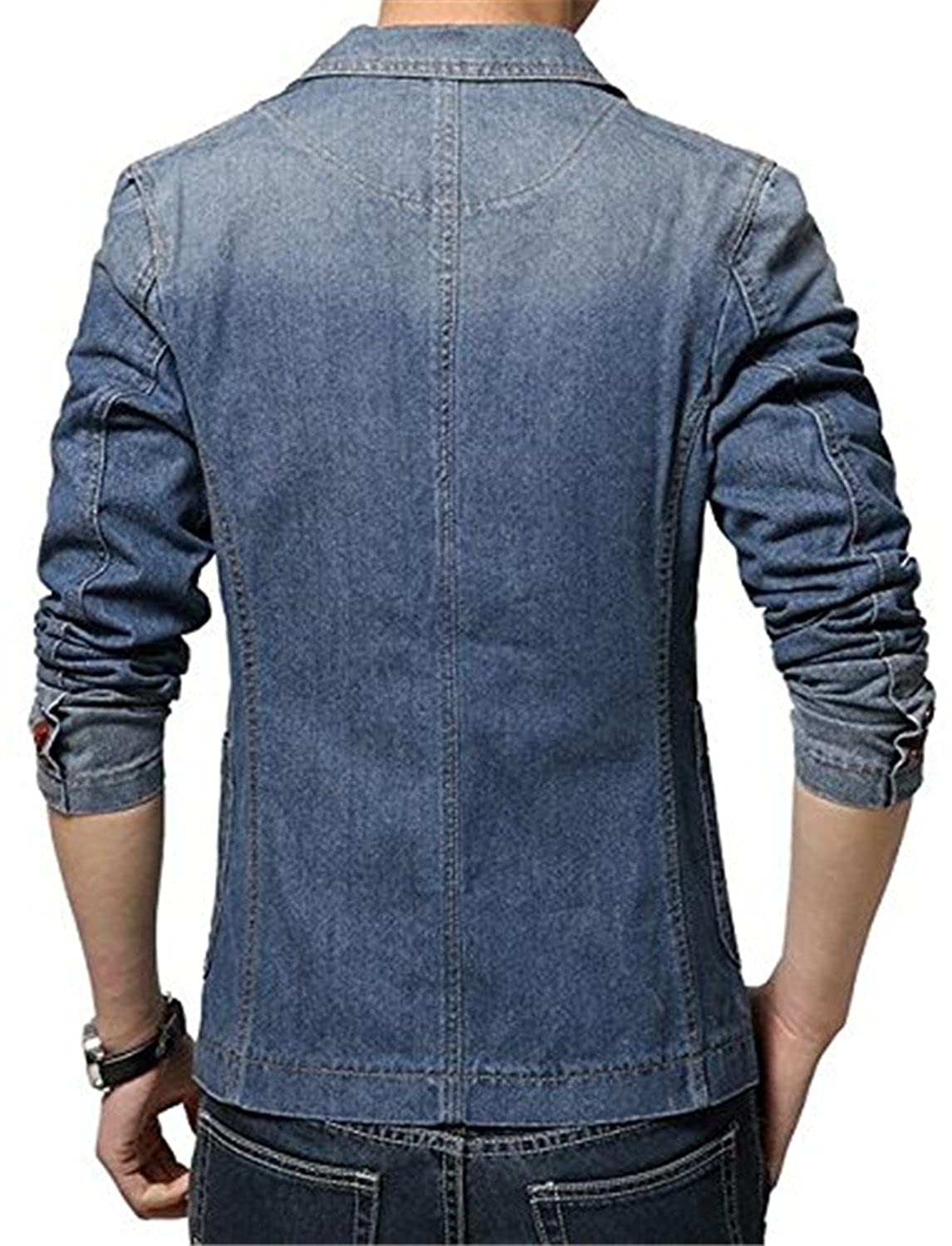 464df73d0d5a 70%OFF Cheryl Bull Fashion Mens Denim Slim Fit Suits Casual One Button  Solid Blazer