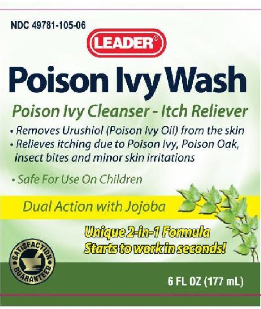 Leader Poison Ivy Wash 6 Fl Oz (177 mL) Per Bottle (6 Bottles) by Leader