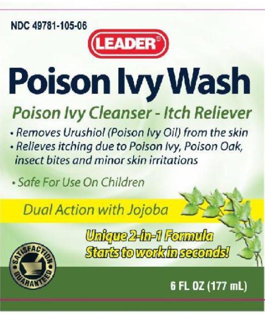Leader Poison Ivy Wash 6 Fl Oz (177 mL) Per Bottle (6 Bottles)