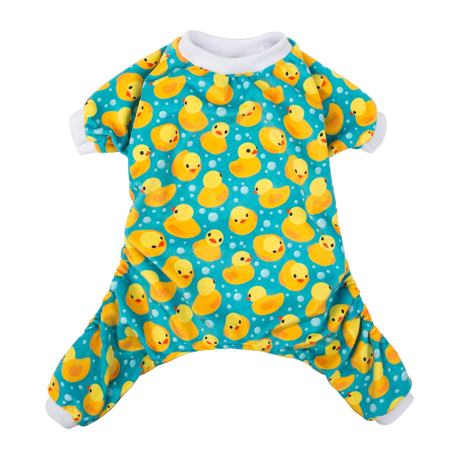 Multi-colord M Multi-colord M CuteBone Dog Pajamas Yellow Ducks Dog Apparel Dog Jumpsuit Pet Clothes Pajamas Puppy Clothes P50M