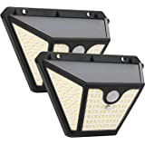 Luz Solar Exterior 102 LED x2, Maxsure, Foco Solar con Sensor de Movimiento, Lámpara Solar Exterior, 2000mAh, 1500LM con…