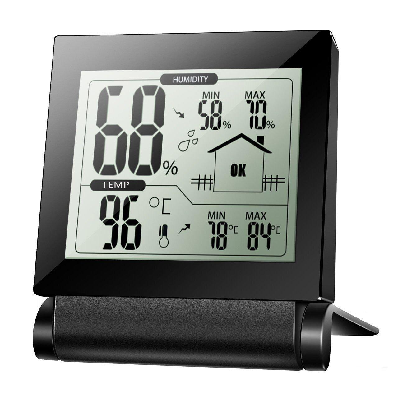[Thermomètre Hygromètre Numérique Sans Fil] Xintop Thermo-Hygromètre Moniteur Température et Capteur d'Humidité pour intérieur