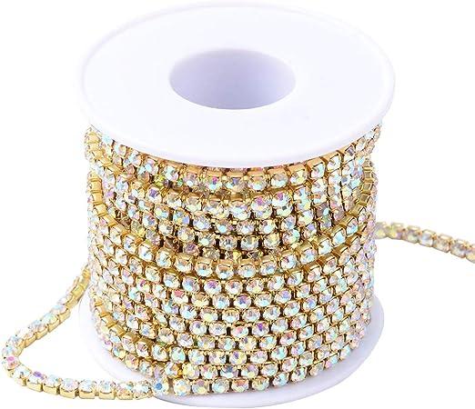 10 Yards Brass Rhinestone Strass Chains Rhinestone Cup Chains Crystal Claw Chain