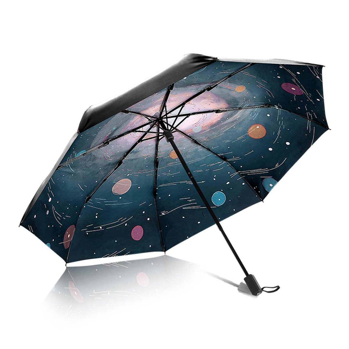 Artistic Umbrella Light-weighted Folding Umbrella with Anti-UV and Windproof Funtions Suitable for Both Sunny and Raining Days- Available In 5 Patterns (Universe)