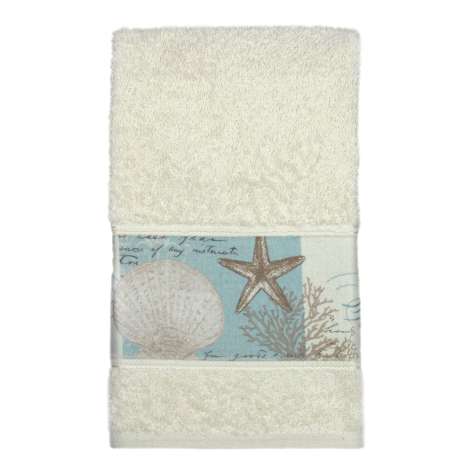 Bacova Guild ''Coastal Moonlight Cotton Terry Hand Towel