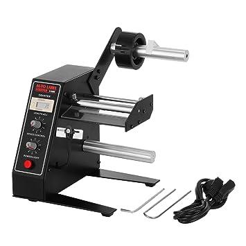 VEVOR al-1150d 1 - 8 M/min automático dispensador de etiquetas (con control de velocidad Stripper separar máquina enrollador contra la etiqueta etiqueta ...