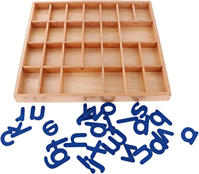 Montessori Alfabetos Movibles Caja Letras Madera Juguete ...