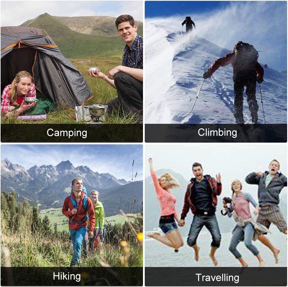 SKYSPER Sac /à Dos de Randonn/ée 60L avec Trou hydratant Imperm/éable Sac Grande Capacit/é pour Escalade Alpinisme Camping Sport Voyage Sac de Trekking en Nylon pour Hommes et Femmes avec Housse de Pluie