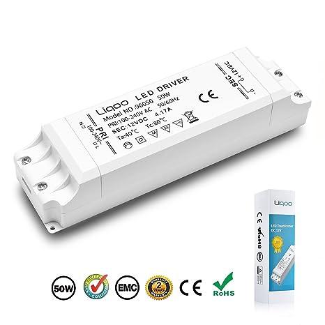 Liqoo® 1-50W LED Trafo Transformador del Conductor Eléctrico de Alimentación del Driver para