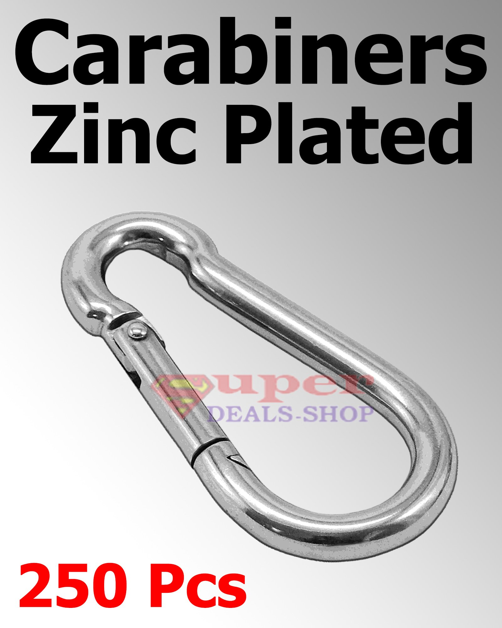 250 Pcs 5/16'' Snap Hooks Carabiners Zinc Plated Spring Hooks Heavy Duty Choose Size/Quantity In Listing Made in USA Super-Deals-Shop by S-D-S Replacement