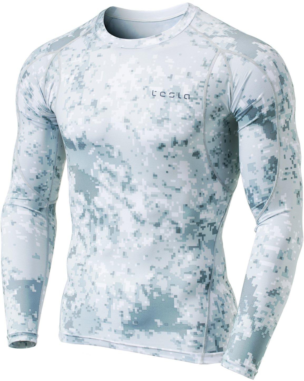 (テスラ)TESLA オールシーズン 長袖 ラウンドネック スポーツシャツ [UVカット吸汗速乾] コンプレッションウェア パワーストレッチ アンダーウェア R11 / MUD01 / MUD11 B078H21SQ9 Medium|Z5-TM-MUD11-XLG Z5-TM-MUD11-XLG Medium