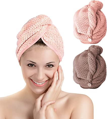 Rapid Fast Drying Hair Towel Soft Thick Absorbent Shower Hat Hair Direr Cap