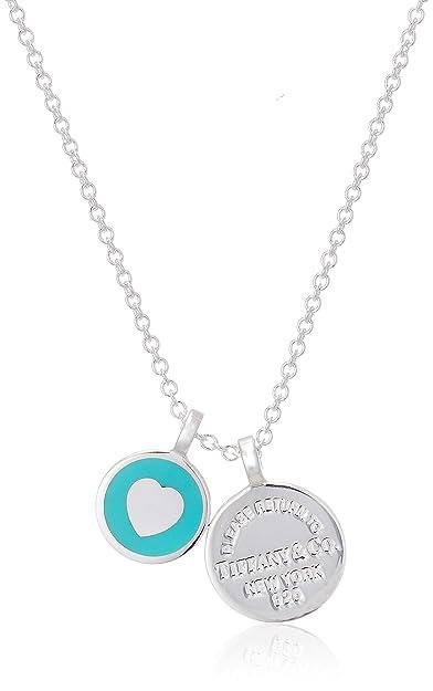 9dd623dd8a8c3 Tiffany Return To Tiffany Double Round Pendant Mini Sterling Silver ...