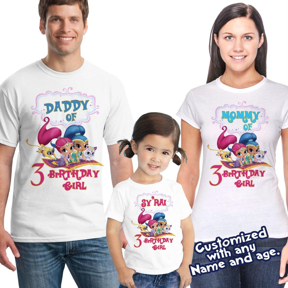 Shimmer And Shine Birthday Shirt Custom Personalized