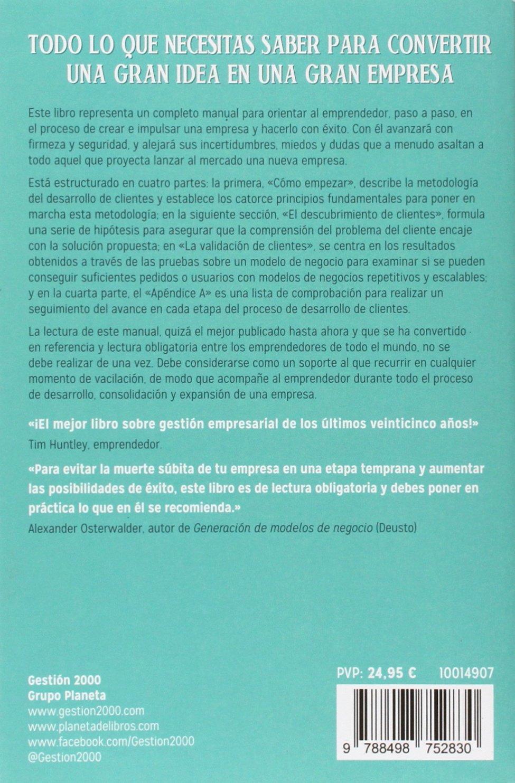 El Manual Del Emprendedor La Guía Paso A Paso Para Crear Una Gran Empresa Sin Colección Spanish Edition 9788498752830 Blank Steve Dorf Bob Books