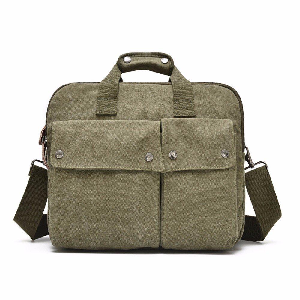 XIAODIU Lässige männliche Tasche Handtasche Leinwand Umhängetasche Messenger Tasche Männer Geschäftsreise Reise Computer Tasche