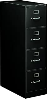 product image for HON 214PP 210 Series 28-1/2-Inch 4-Drawer Full-Suspension Letter File, Black