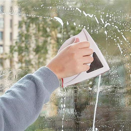 Home Limpiador magnético de doble cara para ventanas de cristal, herramienta de limpieza de superficie, raspador de cristal seguro para ventanas de alto alzado y vidriadas 24 mm rosso: Amazon.es: Hogar