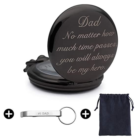 Father's Day Gifts from Daughter or Son, Engraved Pocket Watch for Son, Son  Gifts from Mom, Birthday Gifts, Christmas Gifts