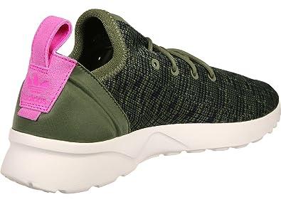 b4baed6636f1a adidas Zx Flux Adv Virtue Trainers Khaki  Amazon.co.uk  Shoes   Bags
